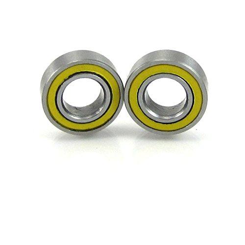 "2pcs. 3/16x3/8x1/8"" Precision Ball Bearing Chrome Steel ABEC 3 YE Rubber Seals"