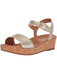 Kids K Milley Metallic Wedge Sandal