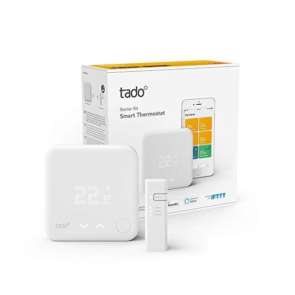 tado° Termostato Intelligente Cablato Kit di Base V3+, Gestione Intelligente del Riscaldamento, Facile Installazione Fai… 2 spesavip