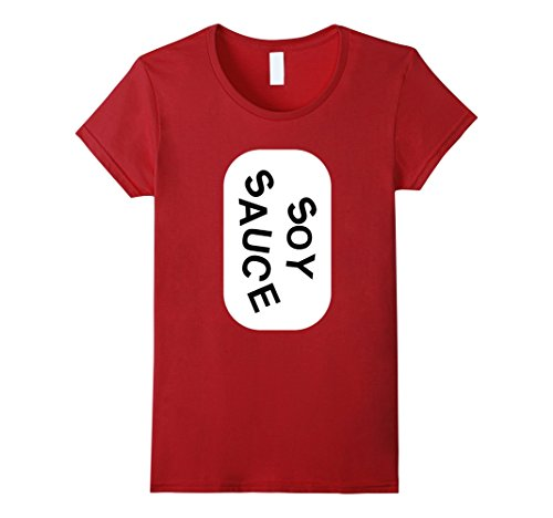 Womens Soy Sauce Group Halloween Costume T-Shirt Tshirt Medium Cranberry