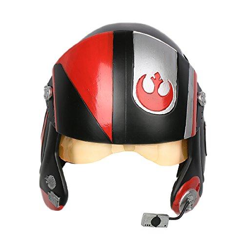 Xcoser Dameron Helmet Deluxe Poe Cosplay Mask X-Wing Teens Adult SW Costume Props