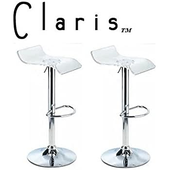 this item claris adjustable acrylic bar stools set of 2