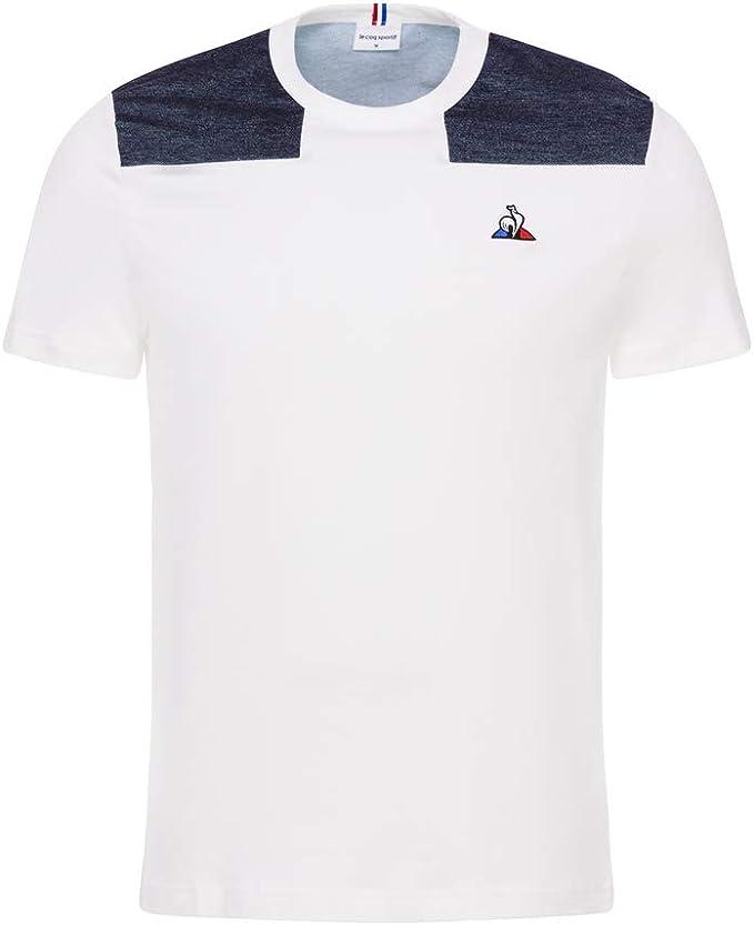 Mens Le Coq Sportif Tricolour No.9 Short Sleeve Retro T-Shirt
