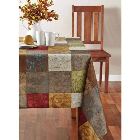 - Mainstays Tuscany Fabric Tablecloth, 60