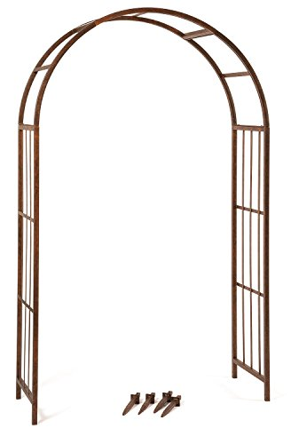Deer Park Ar125 Solera Arch  Natural Patina  84 H X 51 W X 18 D  Ground Stakes Included
