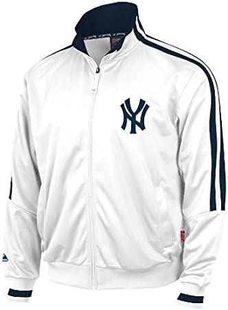 Majestic New York Yankees Cooperstown White Therma Base Track Jacket Giacca