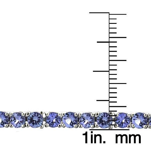 Argent 925 ronde 4 mm Tanzanite 11.25Ct Bracelet de Tennis