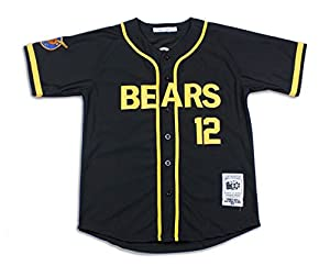 Bad News Bears Movie Baseball Jersey in Black