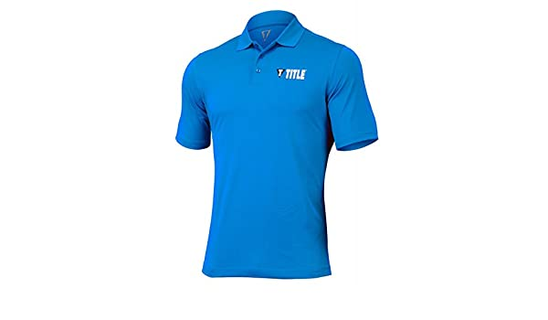 Title Boxing Club Men s aerovent Polo, azul, extra-large: Amazon ...