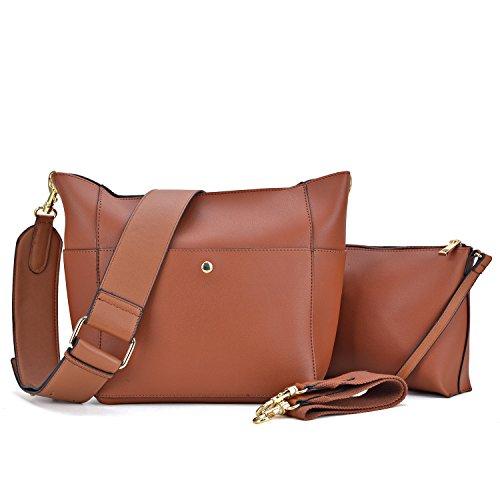 - Dasein Women Satchel Hobos Top Handle Totes Multi Pockets Shoulder Purses Soft Leather Crossbody Handbags Roomy Bucket Bags