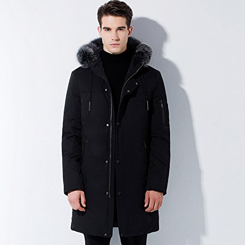 L N7602 black ZHUDJ Man Man Young Men In A Long Hooded color