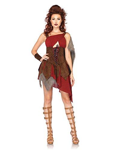 [Leg Avenue Women's 3 Piece Deadly Huntress Costume, Brown, Small] (Leg Avenue Fur Costumes)