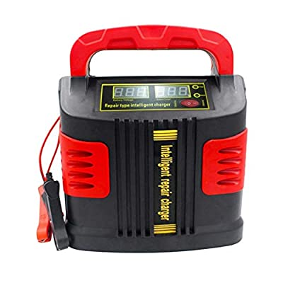 Portable Intelligent Charger Auto Motor Vehicle Charger 350W 14A Auto Adjust LCD Battery Charger Car Jump Starter Booster