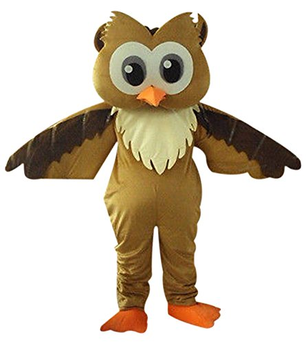 Brown Owl Mascot Costume Cartoon Character Adult Sz -