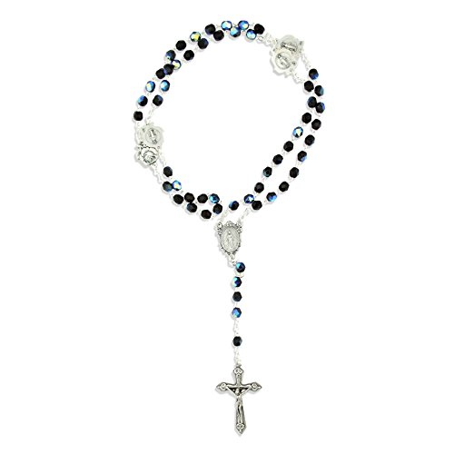 Immaculate Conception Catholic Rosary with Glass Beads (Aurora Borealis) ()