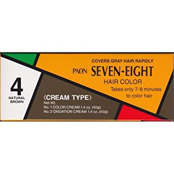 Amazon Com Paon Seven Eight Creamy Type Hair Color Natural Brown 4