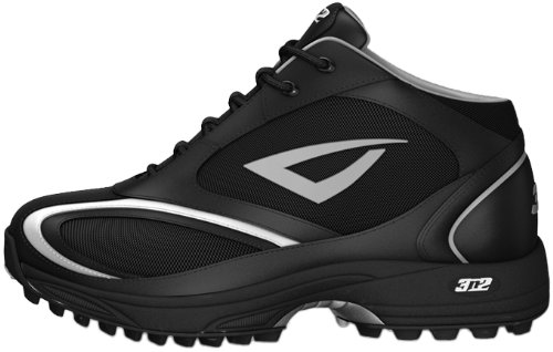 (3N2 Men's Momentum Trainer Mid Baseball Shoes,Black,10 D US)