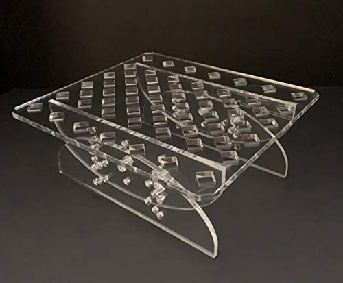 Clear Acrylic Adjustable Frag Rack and Skimmer Stand
