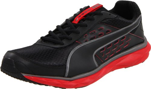 PUMA Men's PUMAgility Speed Cross-Training Shoe, Black/High Risk Red, 13 D US