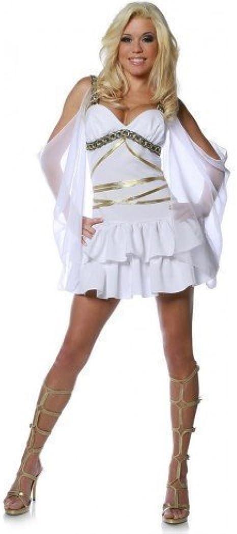 Mujer Sexy Blanco Afrodita Griego Diosa Romana Princesa Toga ...