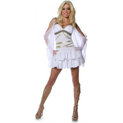 Mujer Sexy Blanco Afrodita Griego Diosa Romana Princesa Toga Disfraz