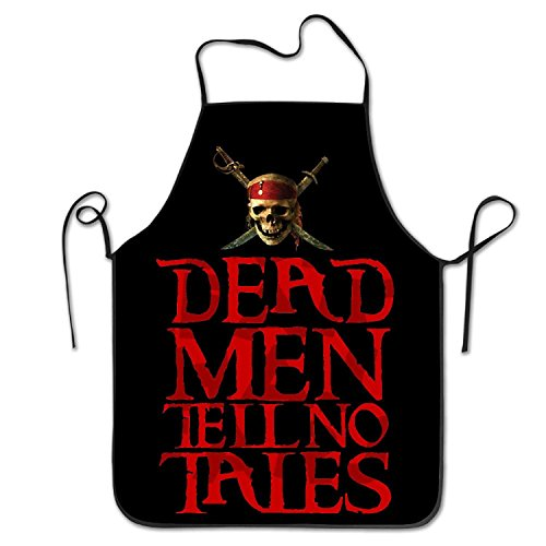 Pirates Of The Caribbean Dead Men Tell No Tales Adjustable Cook Apron Fashion Chef -