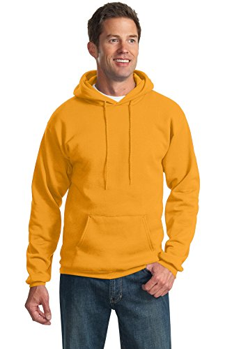 Pullover Ultimate Cotton Hooded (Port & Company Mens Tall Ultimate Pullover Hooded Sweatshirt PC90HT -Gold 2XLT)