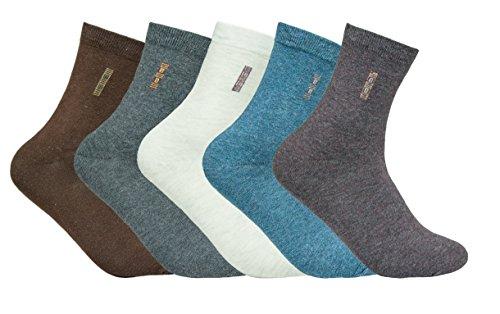 Vipo Men/Women Colorful Patterned Socks, 5 Pack Mixed Color Vintage Quarter Socks (S017)