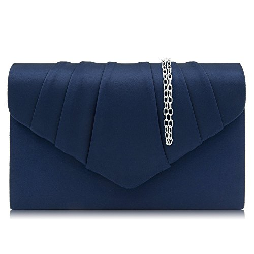 Milisente Women Evening Bag Velvet Pleated Clutch Purse Envelope Clutches ()