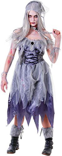 Ghost Ship Pirate Costume Ladies (Ladies Halloween Party Fancy Dress Ghost Ship Zombie Pirate Lady Costume Outfit)