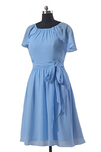 44 Short Dress Sleeve Party Flutter cyan Vintage BM1462 W Dress Bridesmaid DaisyFormals twRXqc
