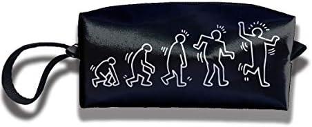 レディース ポータブル 小物入れ 化粧ポーチ 収納ポーチ キース ヘリング 収納袋 ガジェットポーチ コンパクト 便利グッズ インナーバッグ 軽量 小さめ メイクポーチ トイレタリーバッグ おしゃれ 便利 旅行 出張