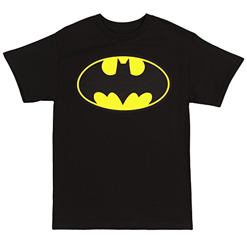 Batman-Classic Logo T-Shirt Size M (Classic Logo Mens Tee)
