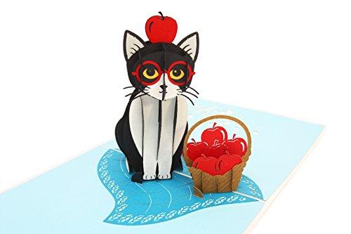 PopLife Playful Cat Pop Up Card, 3D Card