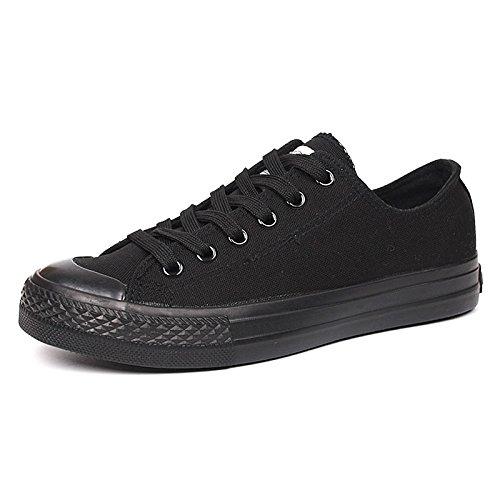 WFL Scarpe di tela da uomo tutte nere scarpe casual scarpe basse basse  scarpe nere da lavoro scarpe da lavoro ae78f4d9a12