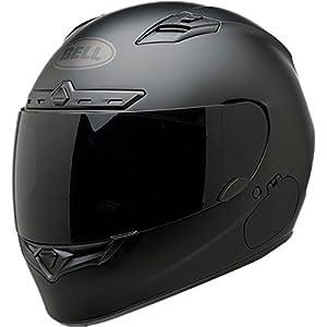 Bell Qualifier DLX Blackout Full-Face Motorcycle Helmet (Solid Matte Black, Medium)