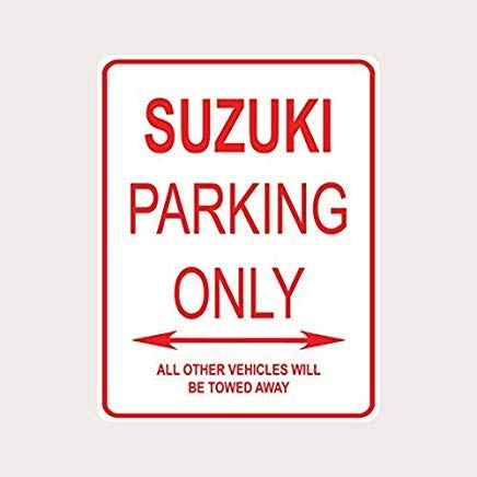 PinkSoft Suzuki Parking ONLY Aluminum Street Sign ()