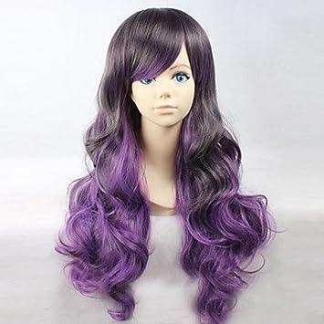 OOFAY JF® dibujos animados color de moda peluca largo rizado pelucas del color del pelo , multicolor: Amazon.es: Deportes y aire libre