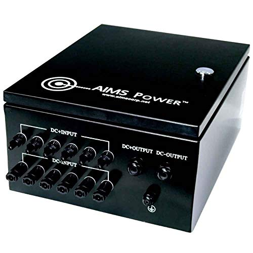 (Aims Power 6 String Solar Array Combiner Box 120A 200Vdc 6 Inputs 20KW - Prewired)
