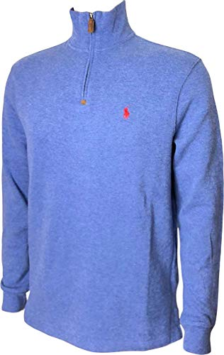 RALPH LAUREN Polo French-Rib Half-Zip Pullover Sweater Large