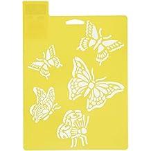 Delta Creative Stencil Mania Stencil, 7 by 10-Inch, 970820710 Butterflies