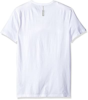 Calvin Klein Jeans Men's Short Sleeve Repeat Ck Logo V-Neck T-Shirt