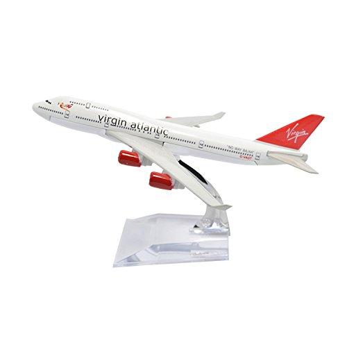 GUOLIAN Diecast Airplane 1:400 16cm Boeing B747-400 Virgin Atlantic Metal Airplane Model Plane Toy Plane Model Office Decoration or Gift