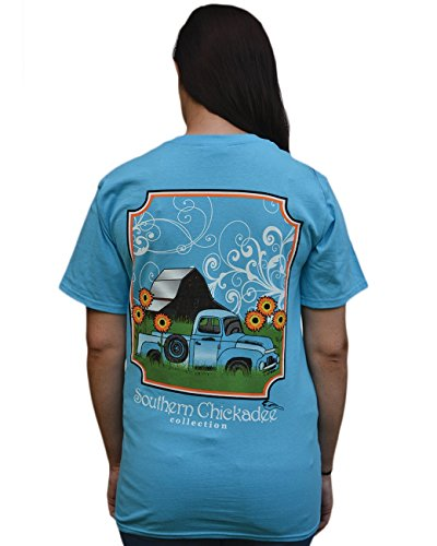 Southern Chickadee Truck Short Sleeve Tee - Aqua Blue (Medium) price tips cheap
