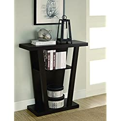 Coaster Contemporary Angled Cappuccino Console Table with Two Shelves