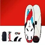 JNWEIYU-Premium-Gonfiabile-Stand-Up-Paddle-6-Pollici-di-Spessore-con-SUP-Accessori-Carry-Bag-Posizione-Larga-Inferiore-Pinna-for-Bambini-Controllo-Surf-Giovani-e-Adulti-in-Piedi-in-Barca