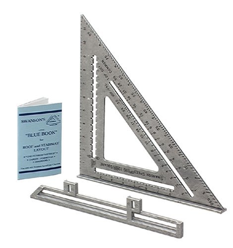 Image of Swanson Tool S0107 12-Inch Speed Square Layout Tool with Blue Book