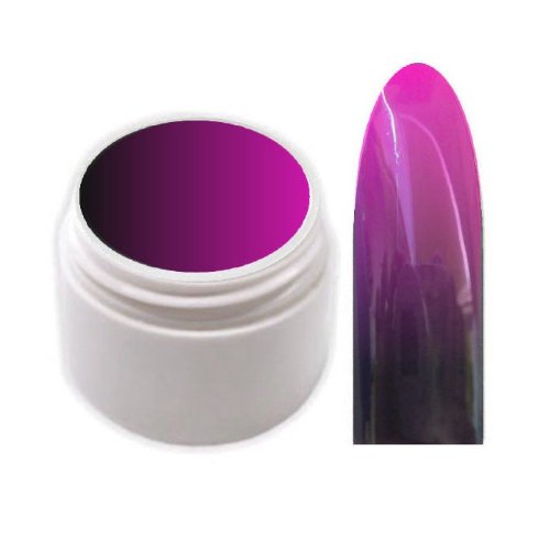 xxl-cosmetic Thermo Farbgel UV Gel Farbwechsel Schwarz-Pink 5ml TG-6