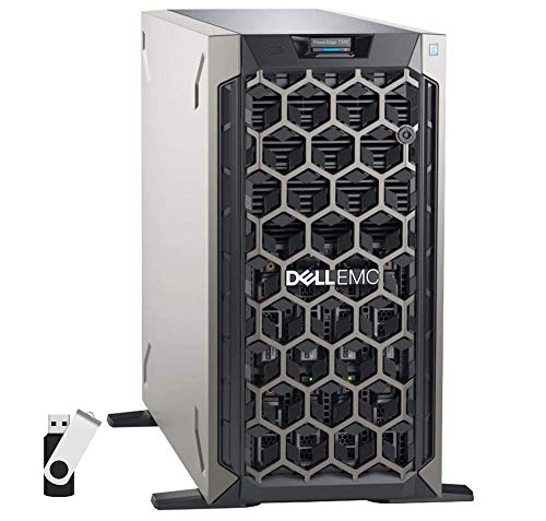 Dell PowerEdge T340 Tower Server Bundle with 16GB USB Flash Drive, Intel Xeon E-2124, 32GB DDR4, 2TB SSD, RAID