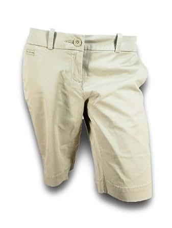 Tommy Hilfiger Womens Bermuda Chino Shorts (12, New Stone)